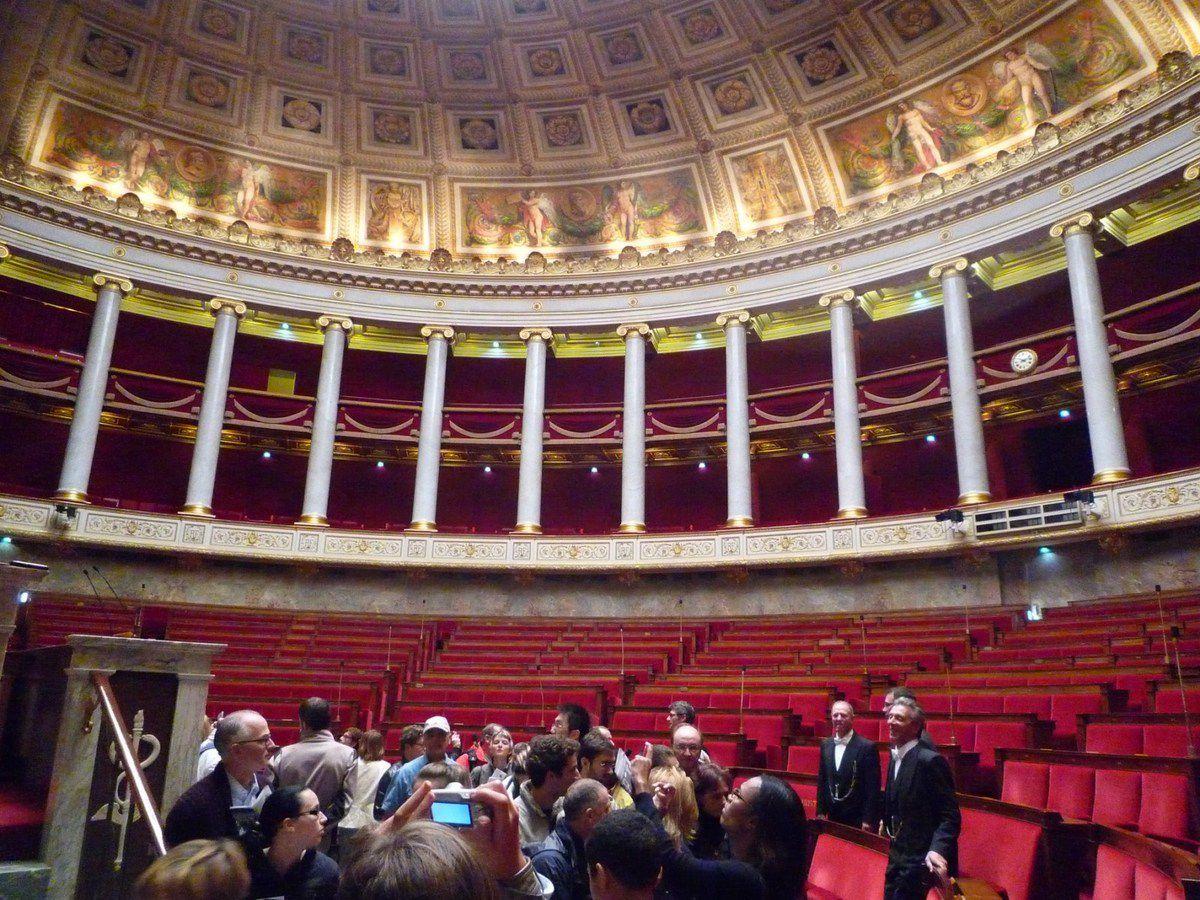 L'Assemblée Nationale lors des journées du patrimoine 2011 (images personnelles, septembre 2011)