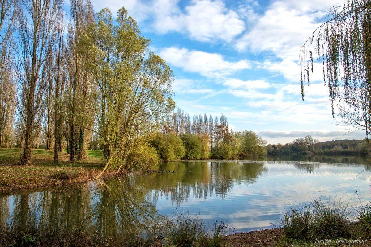 Le lac et la foret à Chatellerault.....
