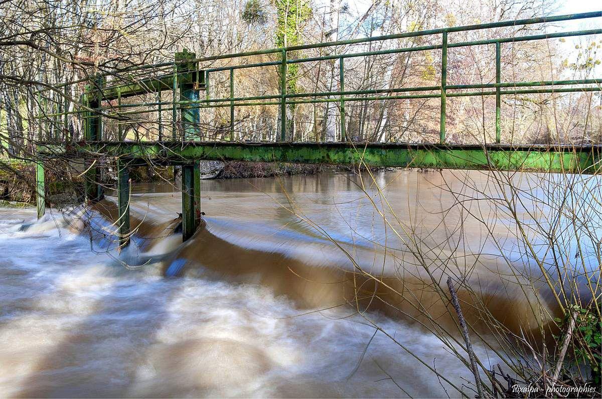 La Charente , après les fortes de pluies de la semaine....