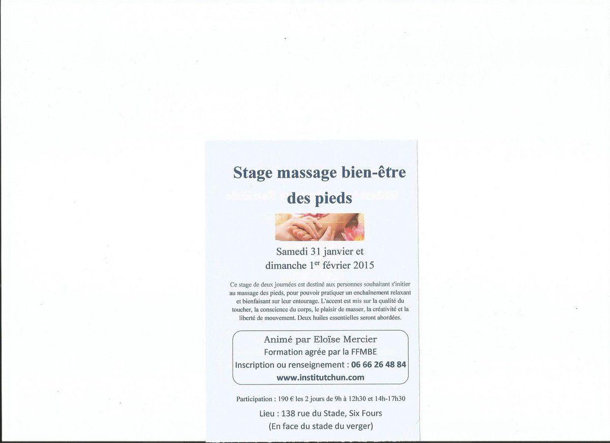 initiation au massage de pieds