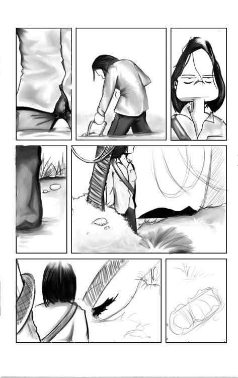 Solange part à la découverte de son environnement.