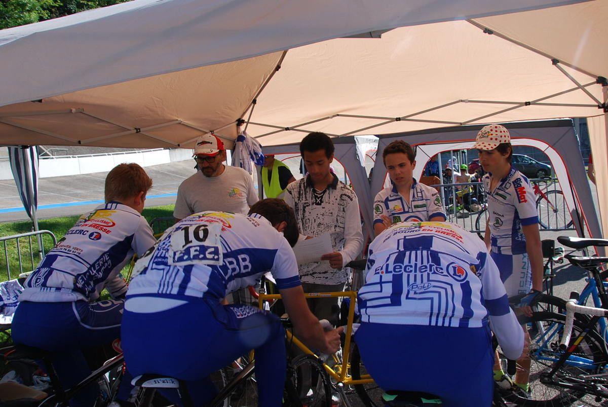 Nos coureurs au championnat Rhône Alpes sur piste à EYBENS