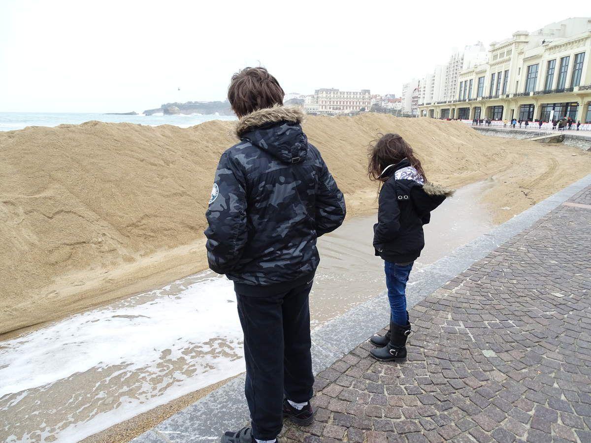 Les plages d'Anglet et Biarritz version première grande marée de l'année