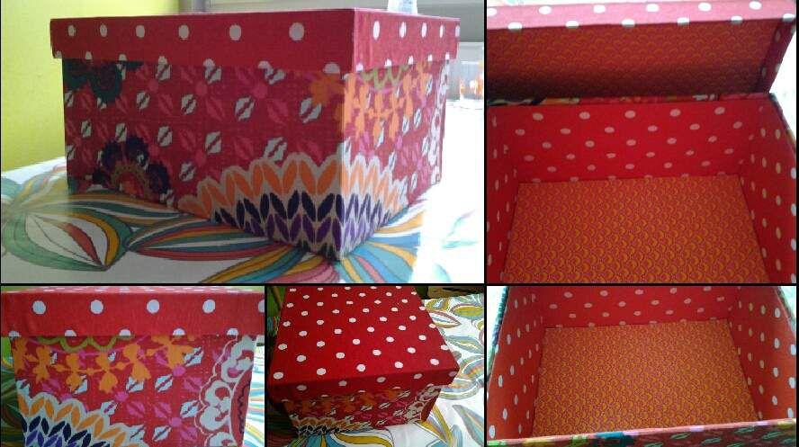 Jolie boîte en tissu