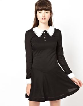 Pop Boutique Swing Dress with Lace Collar and Cuff 16.87 euros http://www.asos.com/Pop-Boutique/Pop-Boutique-Swing-Dress-with-Lace-Collar-and-Cuff/Prod/pgeproduct.aspx?iid=3168922&SearchQuery=pop%20boutique%20swing%20dress&sh=0&pge=0&pgesize=36&sort=-1&clr=Black&affId=2439&WT.tsrc=Affiliate&zanpid=1904150748363944961