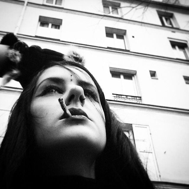 #gothgirl #goth #gothic #metalbabe #selfie #metalgirl #metalhead #alternativegirl #alternative #woman #girlwithblackhair #girlwithlonghair #naturallonghair #longhair #bored #blackhair #makeup #blackandwhite #frenchgirl #followme #f4f #piercing #bindi #thirdeye #verticalbridge #palegirls #picoftheday #pinup