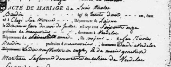 Archives départementales de Seine et Marne - Registre paroissial.