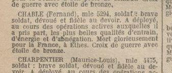 Extrait du Journal officiel du 25 septembre 1920