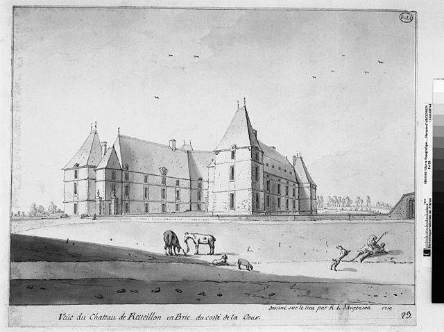 «Chateau de reveillon gravure argenson 1719» par Marquis d'Argenson - Travail personnel. Sous licence Domaine public via Wikimedia Commons -