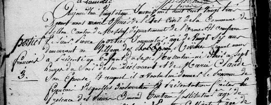 AD 61 Bellou en Houlme, registre d'état civil, 3NUMECEC40/3E2_040_15