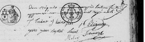 AD28 - Chérisy - Registre Etat Civil 1819-1829 - 3E 098/007