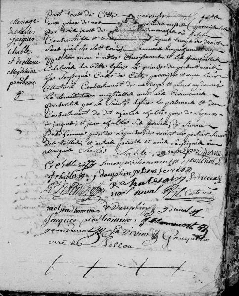 AD Orne – Bellou-en-Houlme – Registre paroissial 3NUMECRP40/EDPT181_24 - Vue 67
