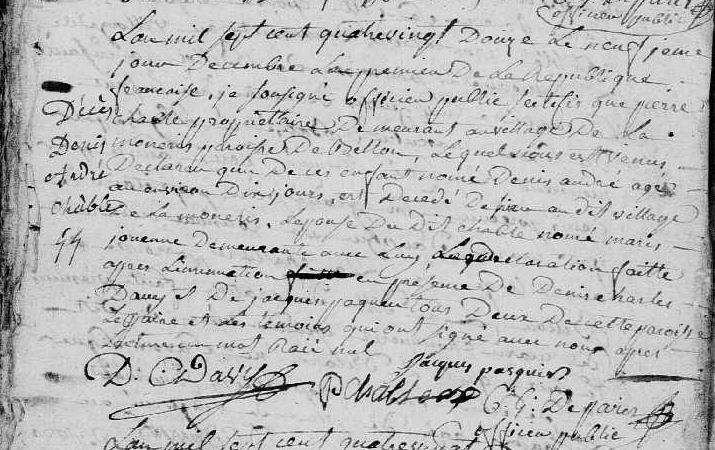 AD Orne - Bellou-en-Houlme - BMS 3NUMECRP40/EDPT181_27 – Vues 99 et 100
