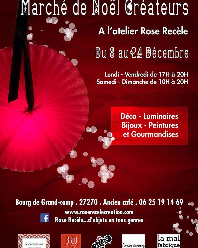 Marché de Noël à l'atelier Rose Recèle à Grand-camp