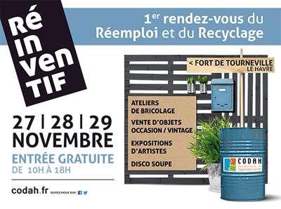 Premier Salon du réemploi et du recyclage organisé par la CODAH Le havre 76