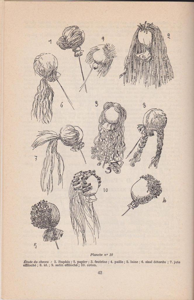 texte cheveux pour poupée