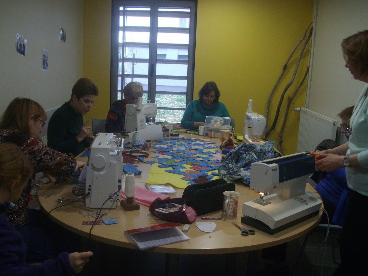 quilting bee filles d'henriette club de patwork de Narbonne