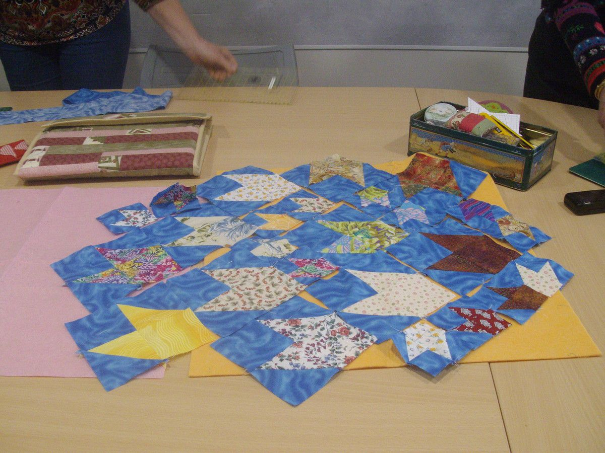 blocs poissons en patchwork