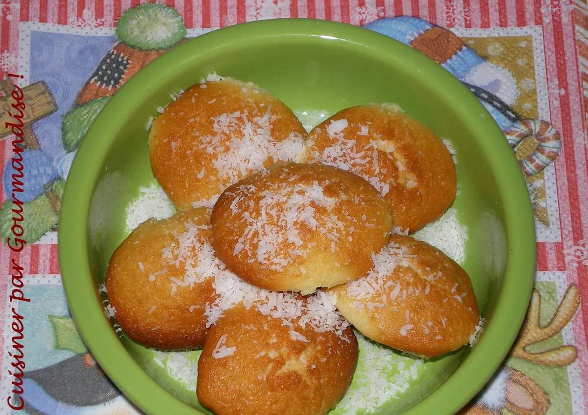Mini Madeleines Noix de Coco et Zestes de Citron