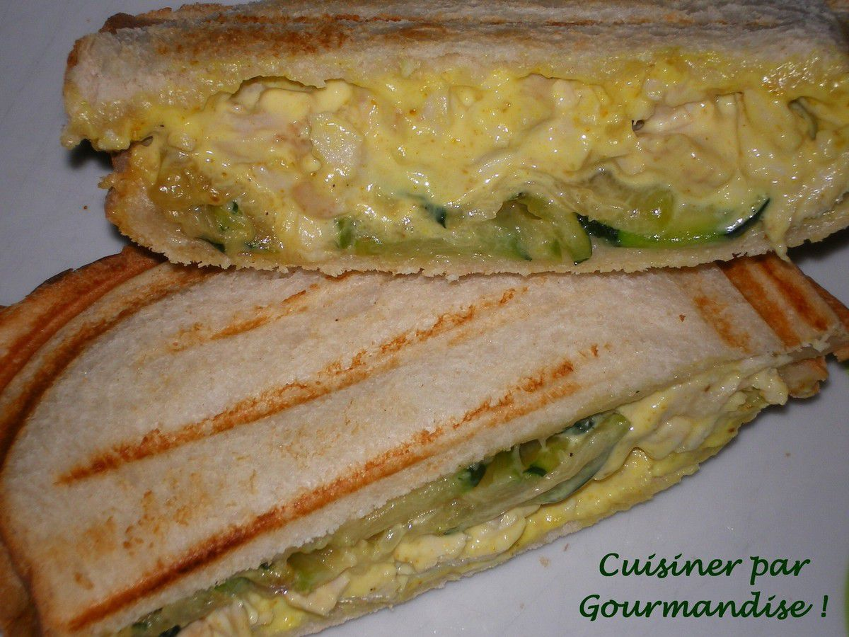 Croques Courgettes, Poulet, Curry