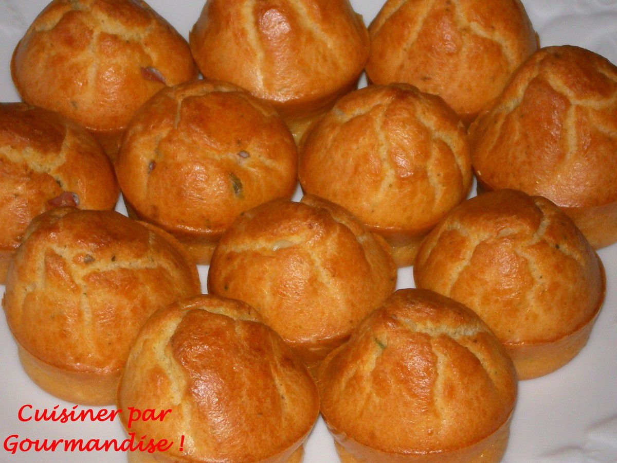 Mini-Muffins au Fromage Ail et Fines Herbes
