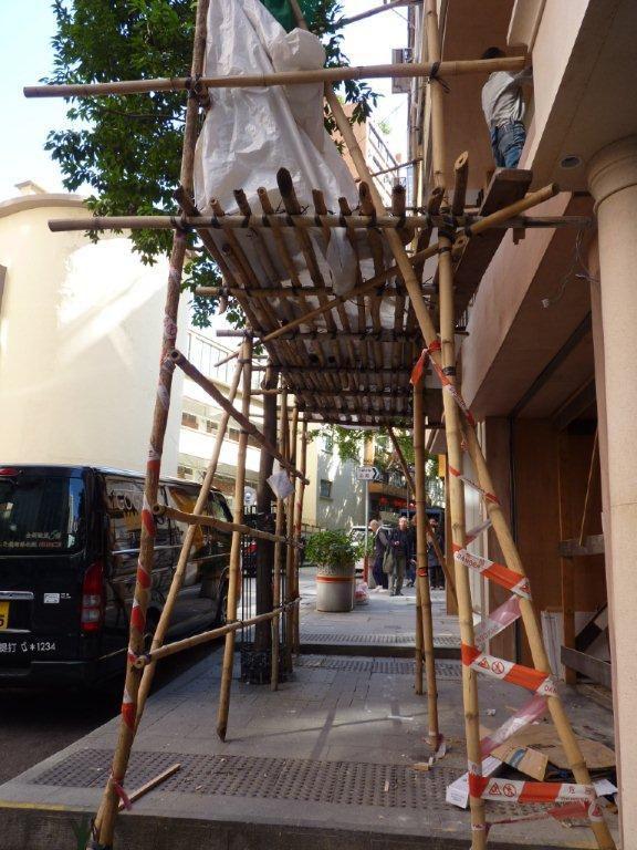 échafaudages en bambou