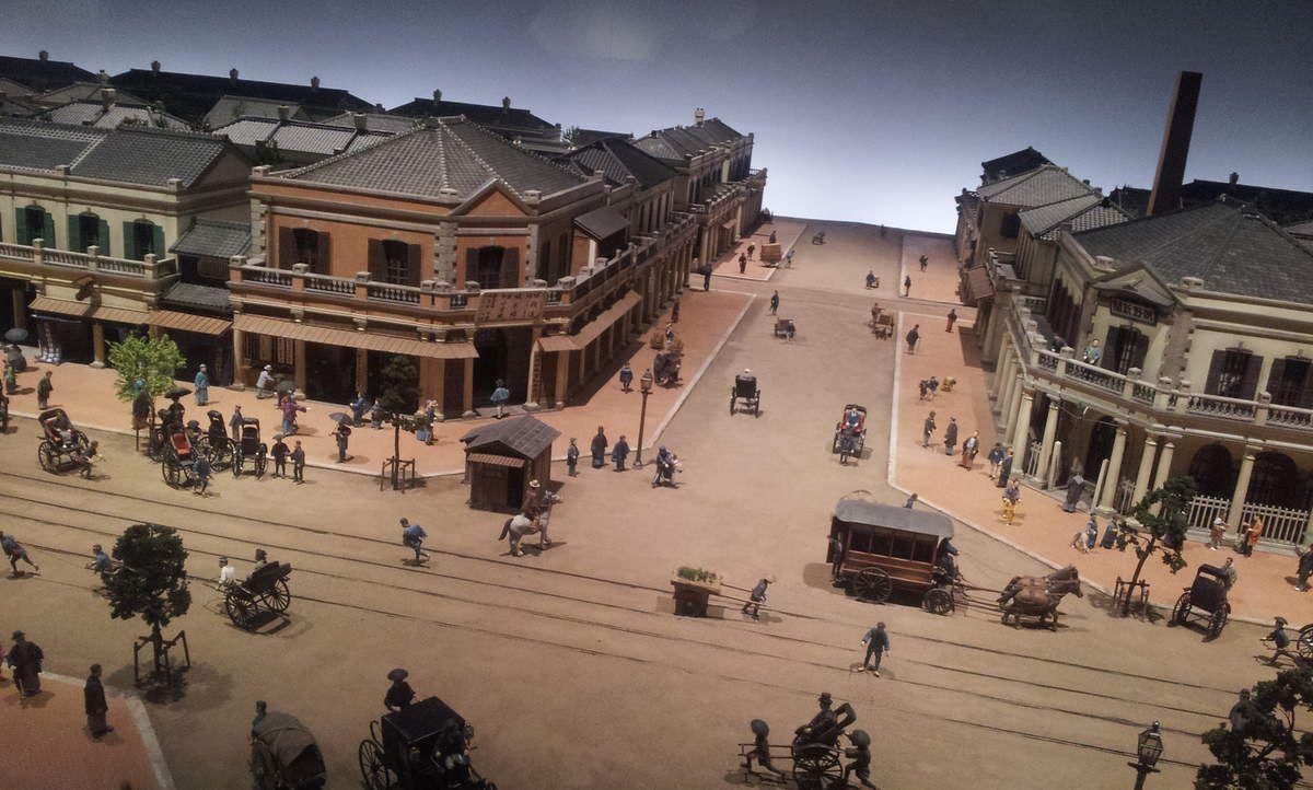 Le musée Edo-Tokyo, immense, et quelques maquettes.