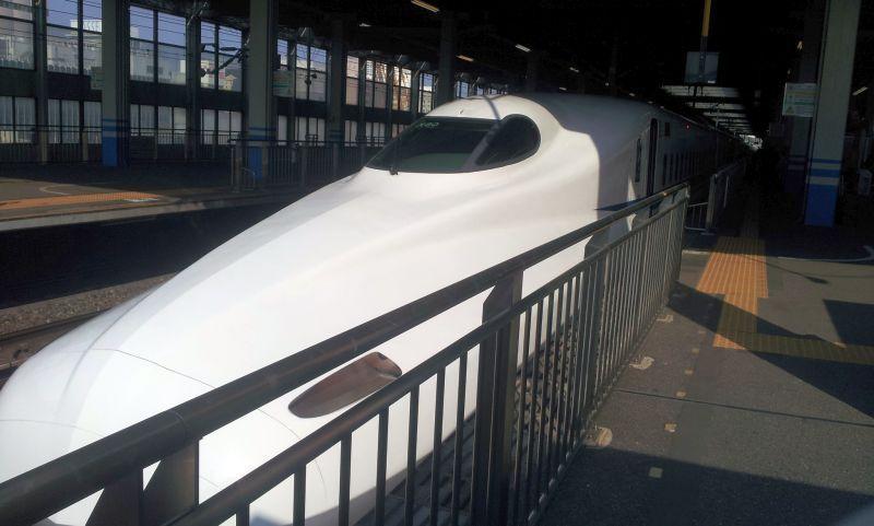 Le shinkansen pour aller de Hiroshima à Tokyo. Je n'ai pas vu passer les quatre heures de voyage.