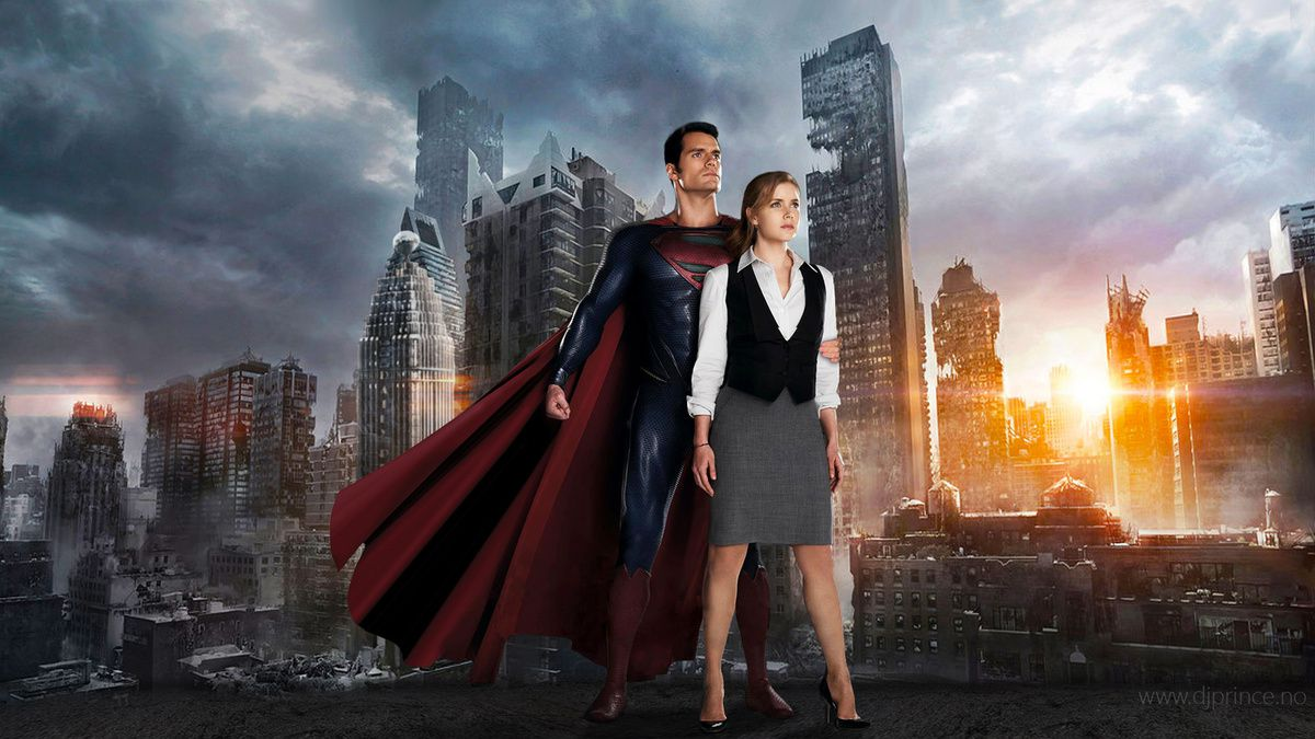 Le couple Clark Kent/ Loïs Lane interprété par Henry Cavill et Amy Adams