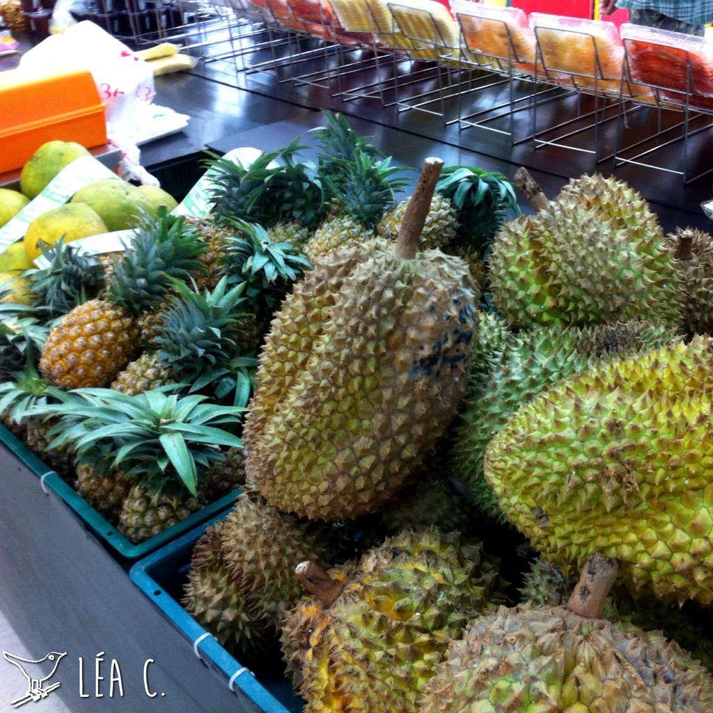 Durians en supermarché