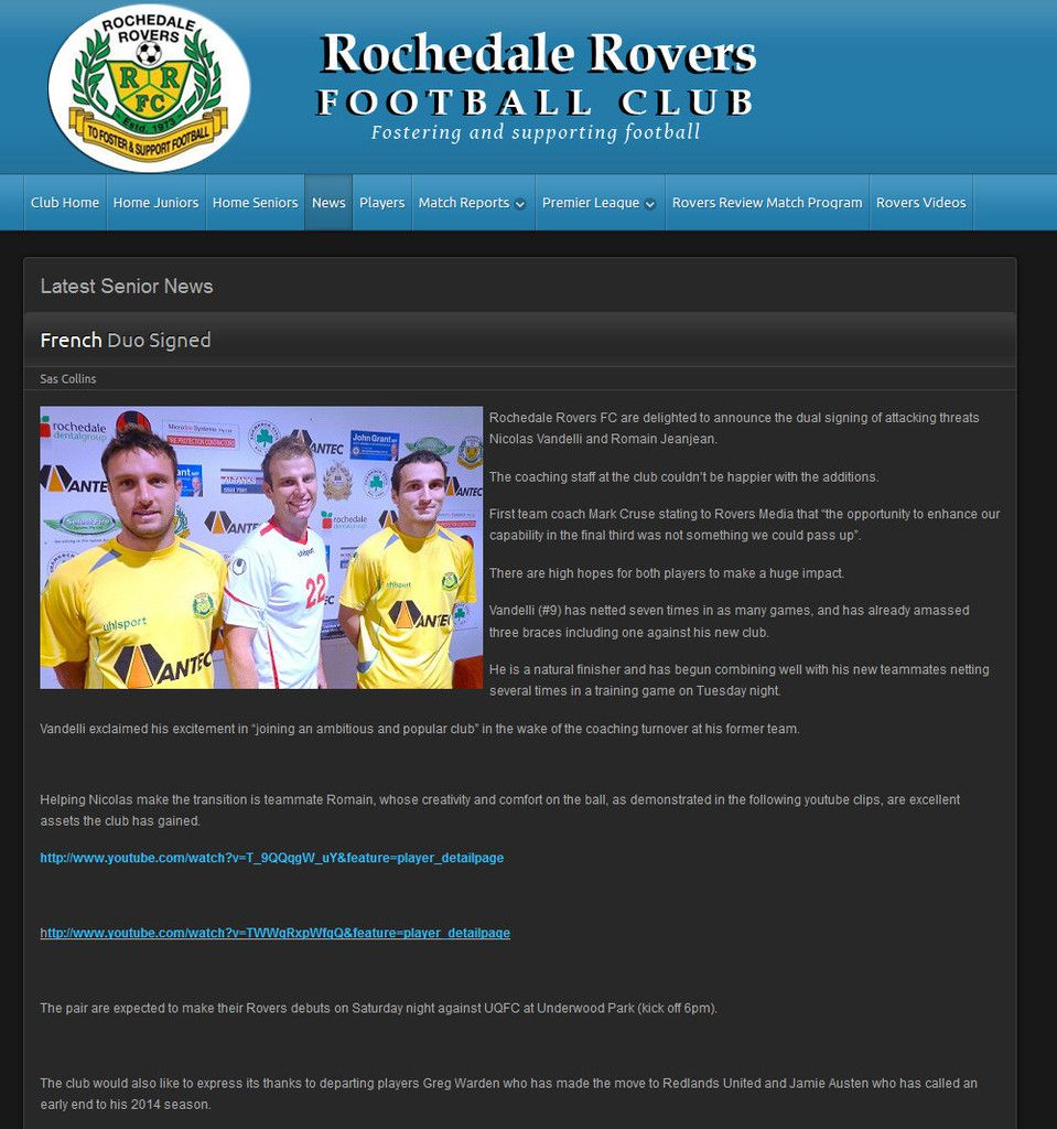 RR FC News: French Duo Signed