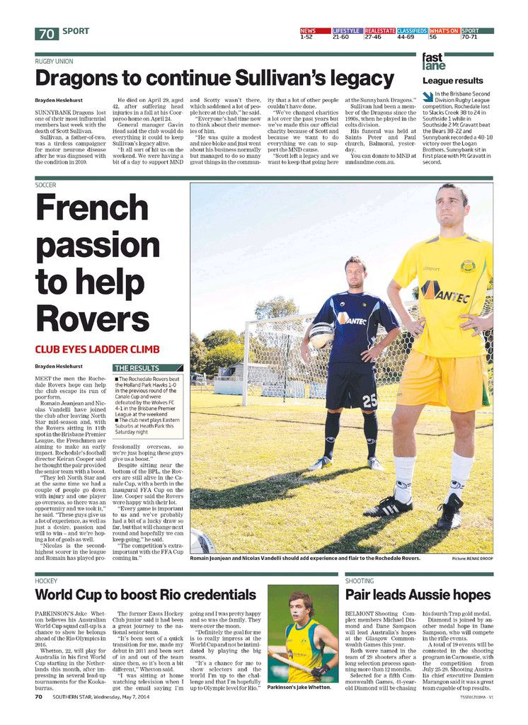 Southern Star: French passion to help Rovers