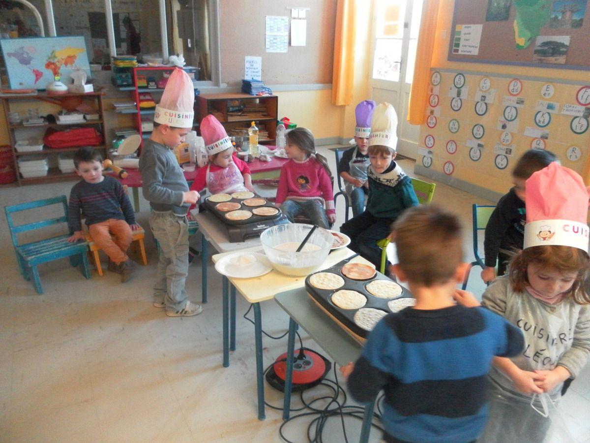 Classe maternelle : Deuxième recette avec les crêpes pour ce mois de février !