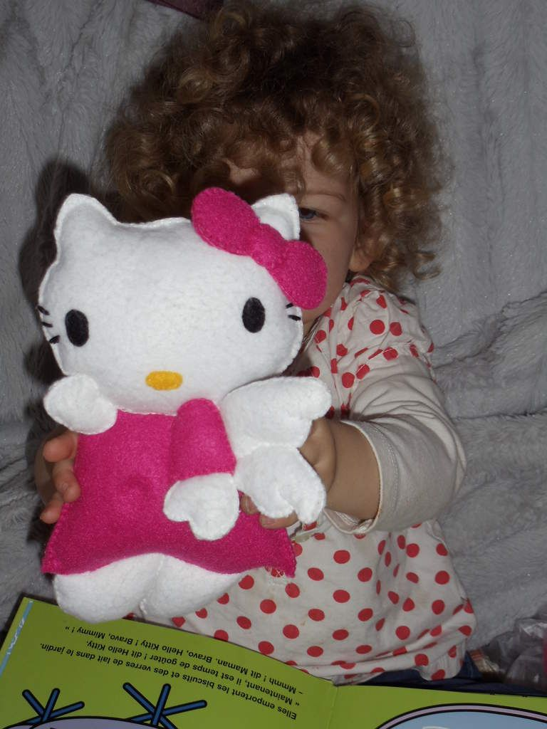 Hello kitty en feutrine