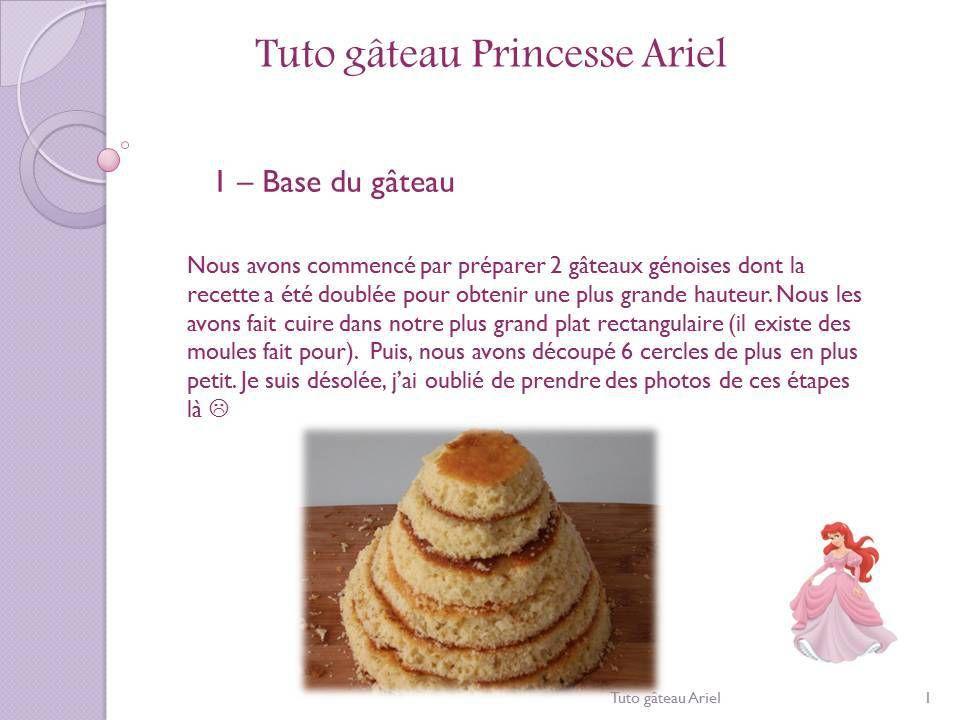 Tuto gâteau princesse Ariel