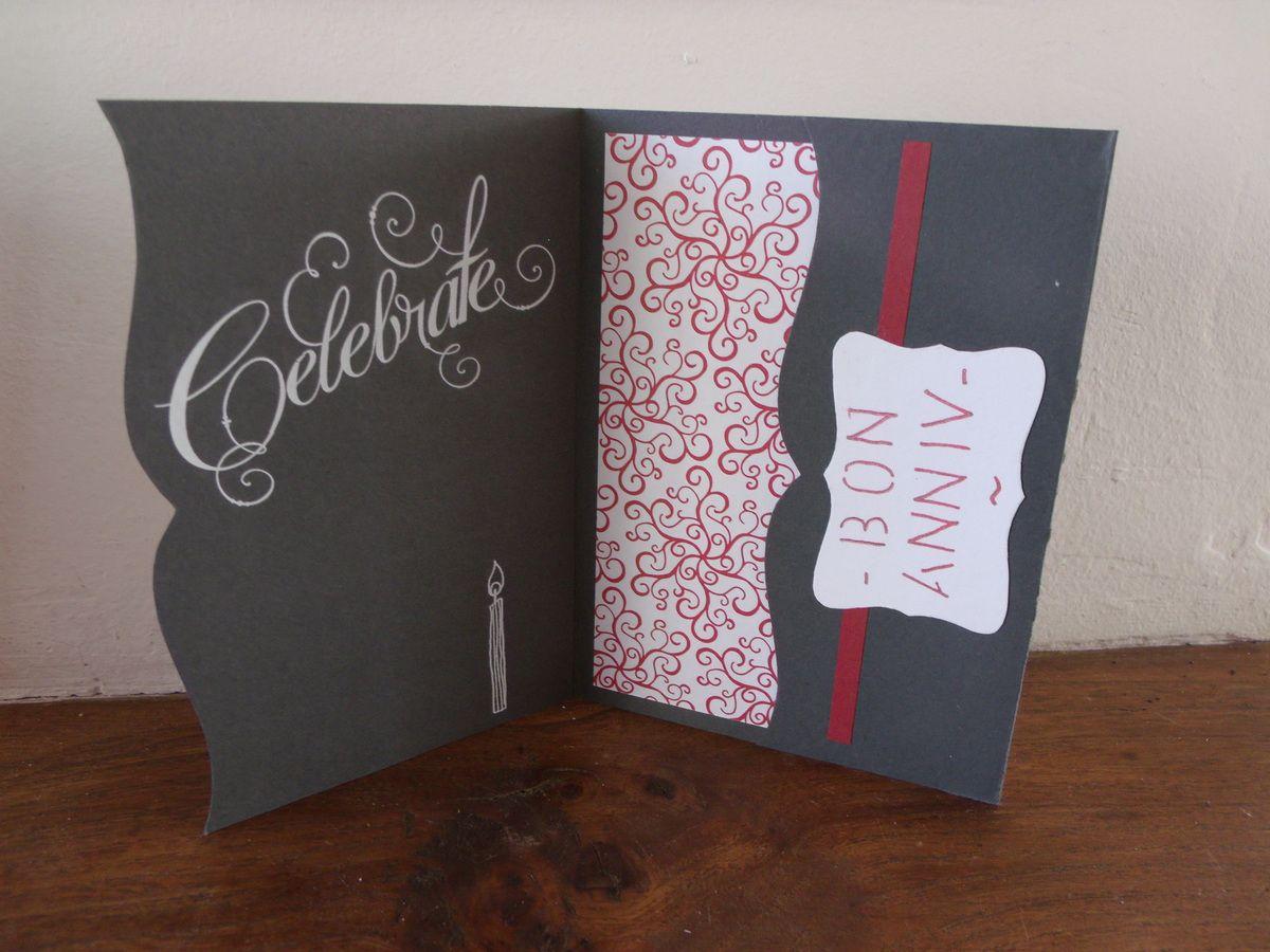 Carte anniversaire scrapbooking