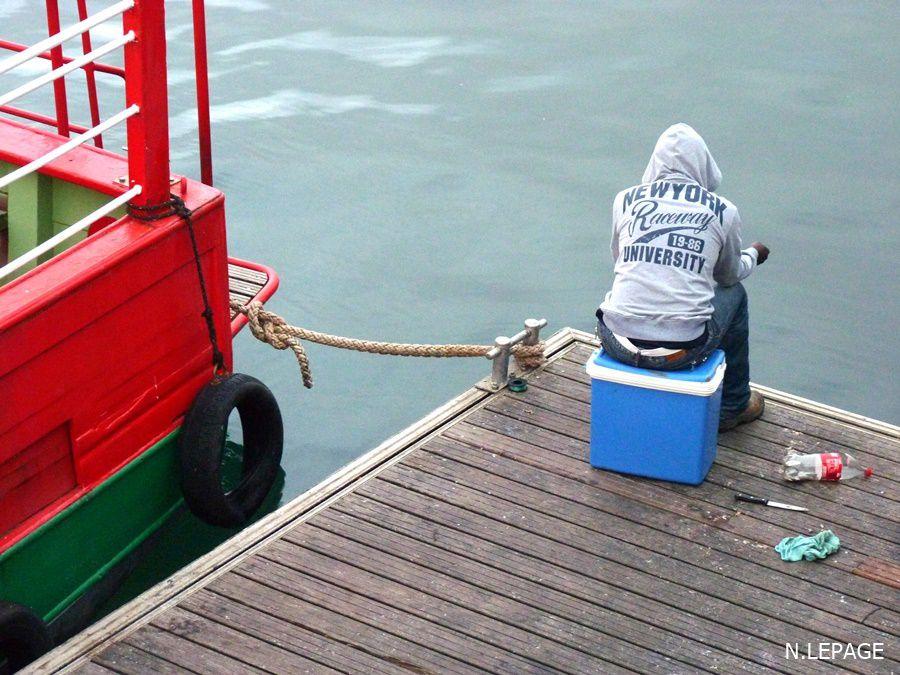 Un soir de septembre au port de commerce de Brest, les bateau à quai!!