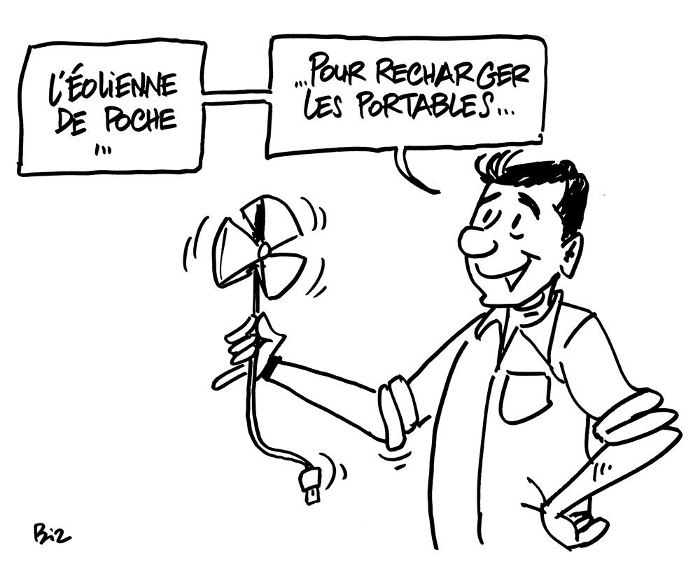 DESSINS EN DIRECT SUR LA MAINTENANCE DES ÉOLIENNES.