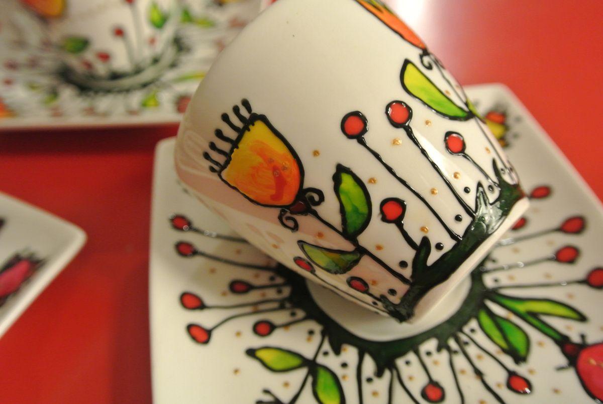Les tasses - fleurs