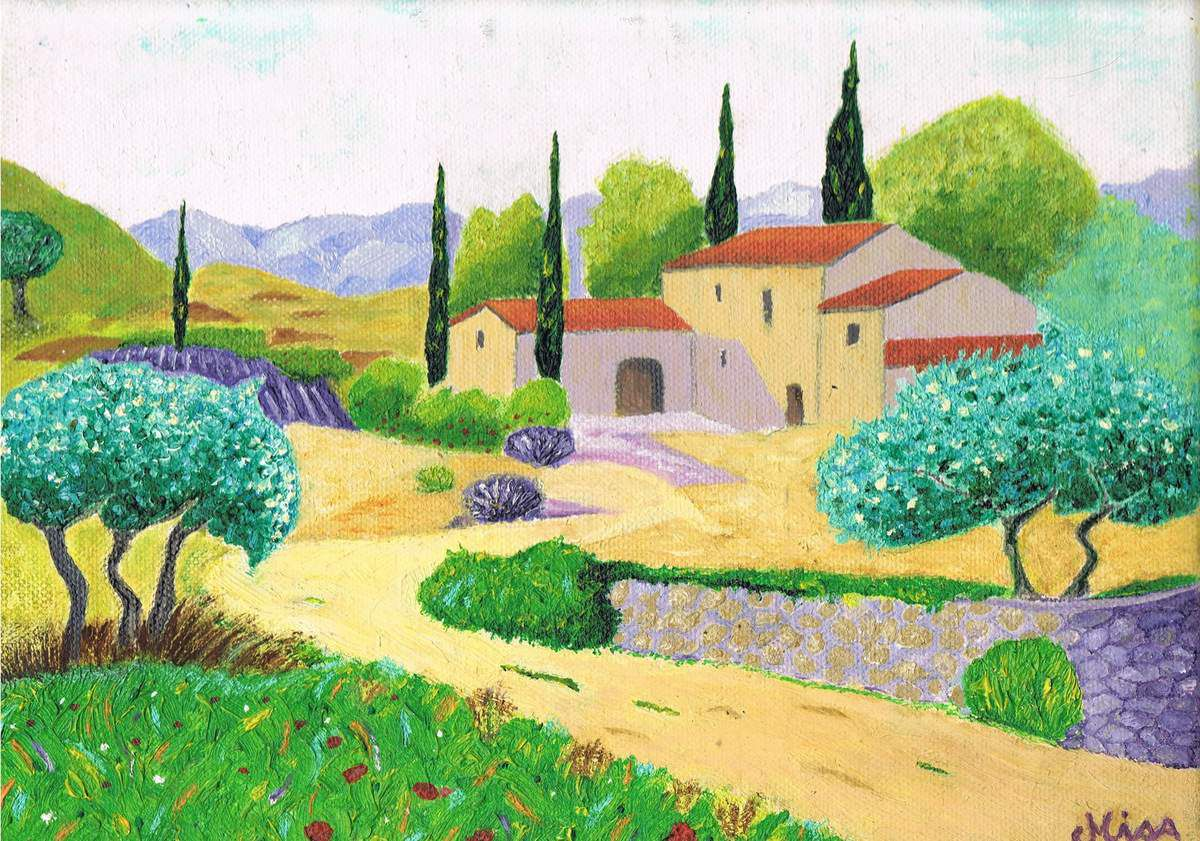 Paysage provencal - Misa - Huile - Format 30x25