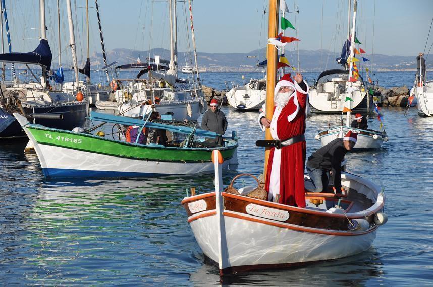 Au Brusc le Père Noël arrivera en pointu