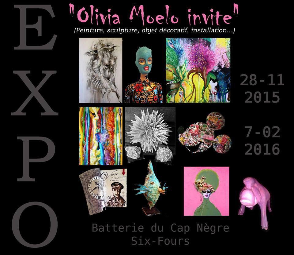 Du samedi 28 novembre au dimanche 7 février, Olivia Moelo et ses amis sont aux cimaises de la Batterie du Cap Nègre