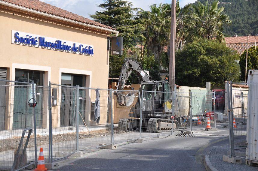 Chemin Grand Chrestian, les travaux de rénovation ont débuté. Durée quatre mois.