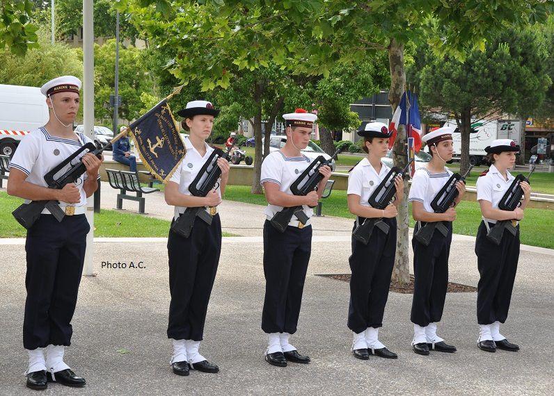 Les élèves de la préparation militaire marine ont honoré de  leur présence la cérémonie