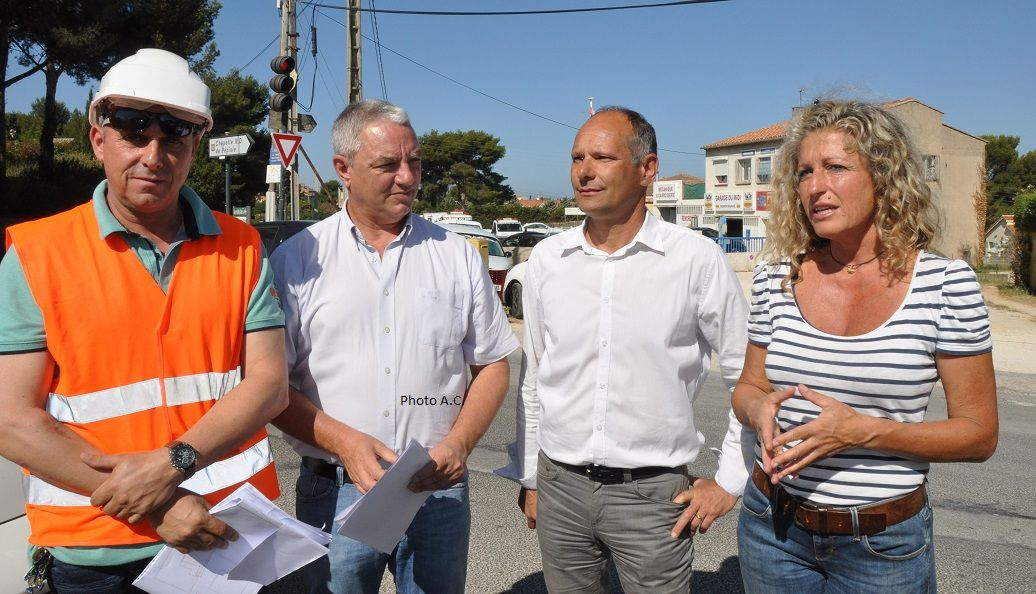 Nathalie Bicais et Joseph Mulé ont inauguré le lancement des travaux en présence des responsables du chantier