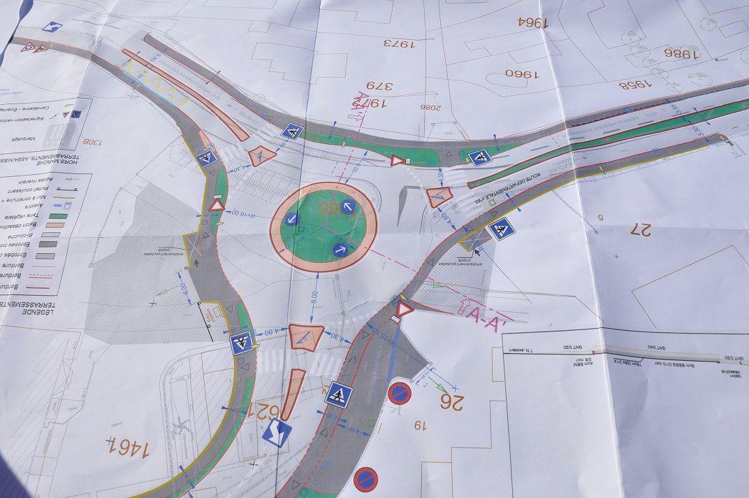 Plan d'aménagement du giratoire
