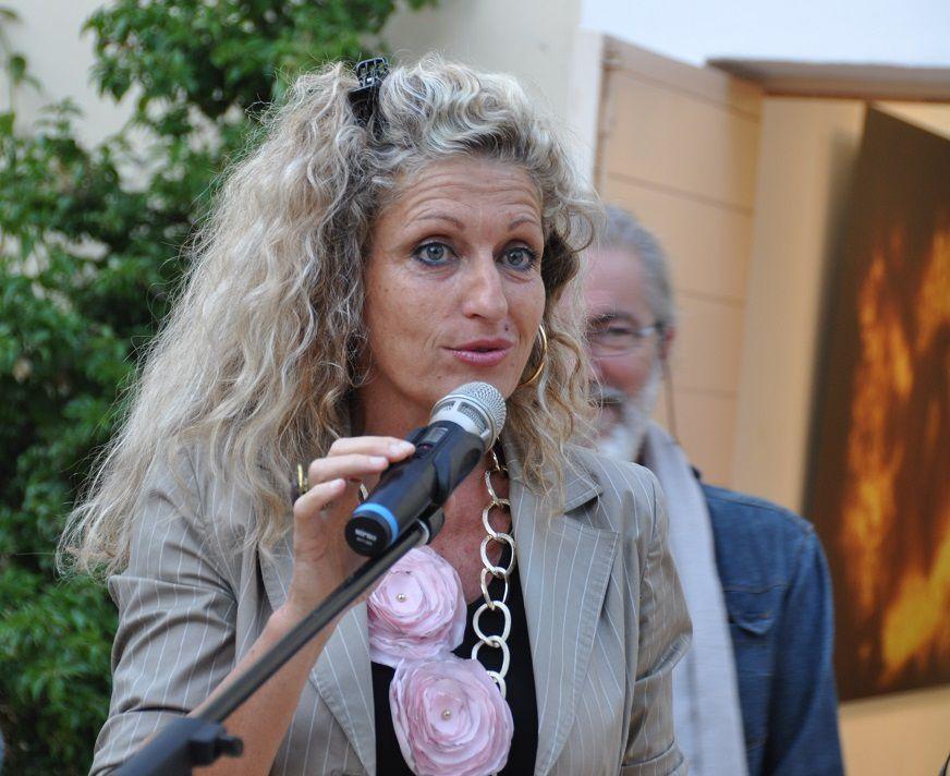 Nathalie Bicais, conseillère départemental est venue féliciter les artistes