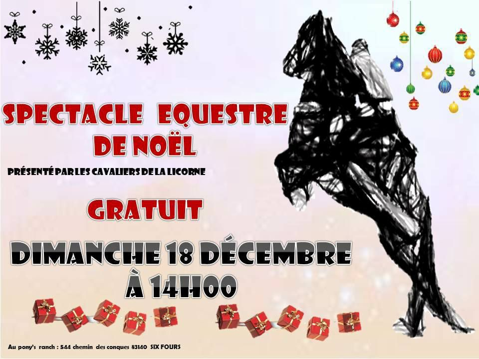Six-Fours/Pony's Ranch : Spectacle équestre de Noël