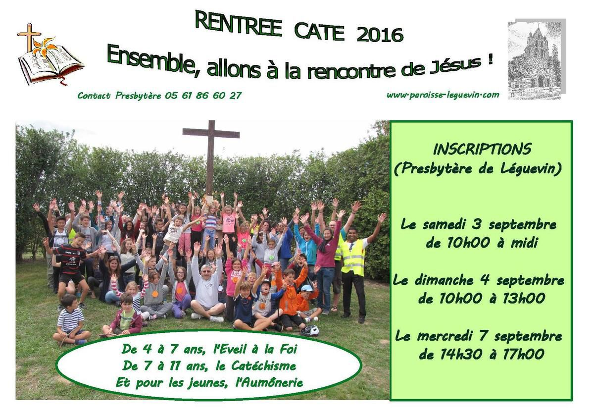 Inscriptions KT : les dates