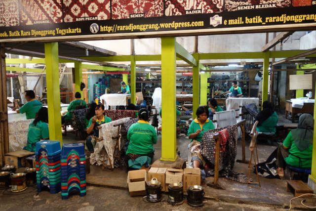 La fabrication du Batik